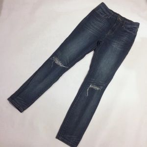 BDG high waist distressed jeans whisked wash